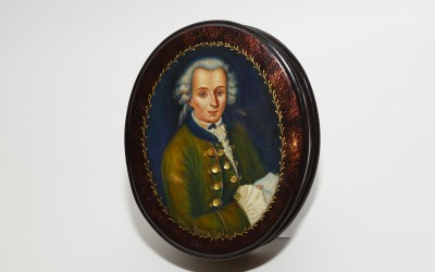 "Babakova O.A. Miniature lacquer painting ""Immanuel Kant"""