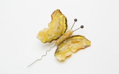 """Vysotskaia L.N., Bezuliak S.S. Brooch """"Butterfly"""""""