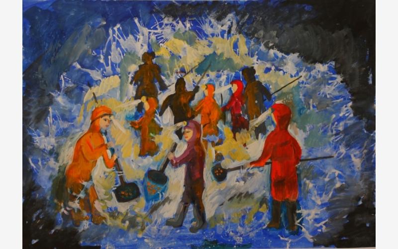 """Rudova Daria """"Spontaneous amber fishing"""""""